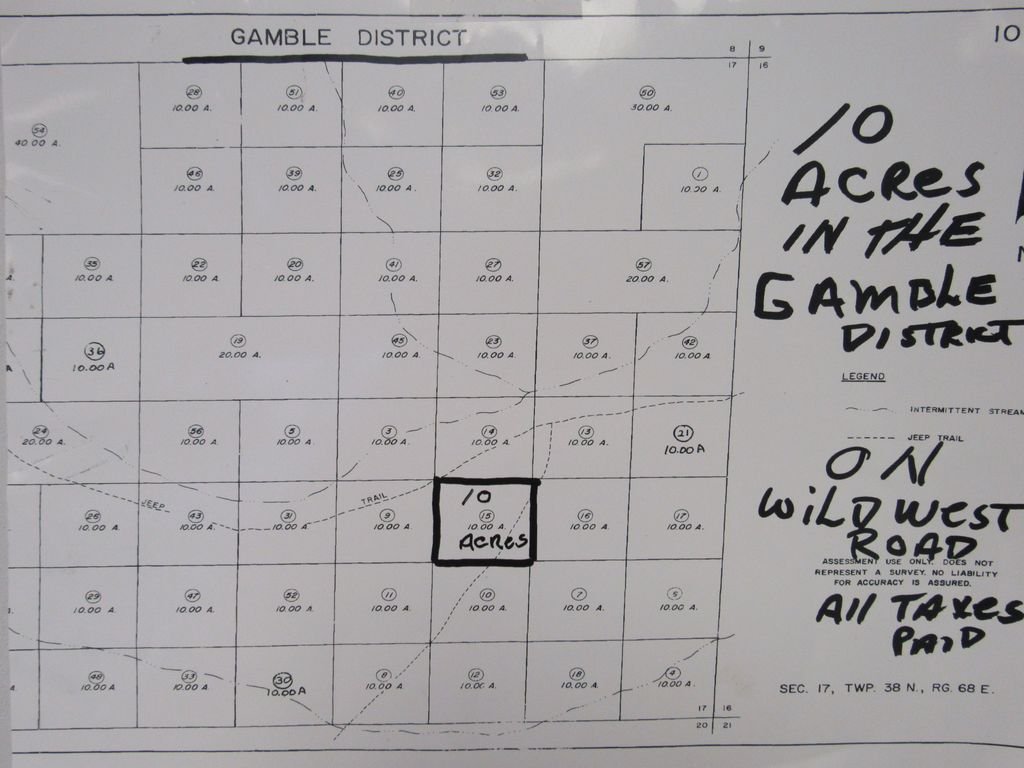 10 ACRES IN THE GAMBLE DISTRICT