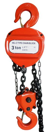 NEW & UNUSED 3 TON CHAIN HOIST