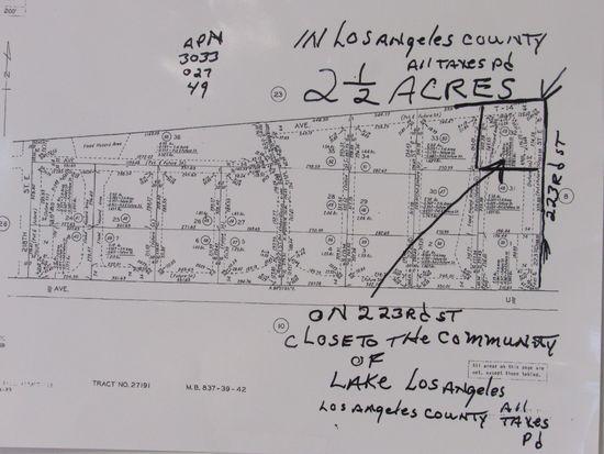 2 1/2 ACRES LOS ANGELES COUNTY