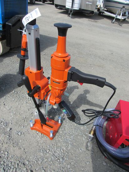 NEW & UNUSED ELECTRIC CORE DRILL W/STAND