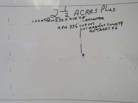 2.5 ACRES IN LOS ANGELES COUNTY