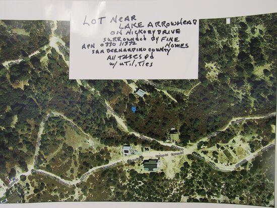 LOT NEAR LAKE ARROWHEAD IN SAN BERNARDINO COUNTY