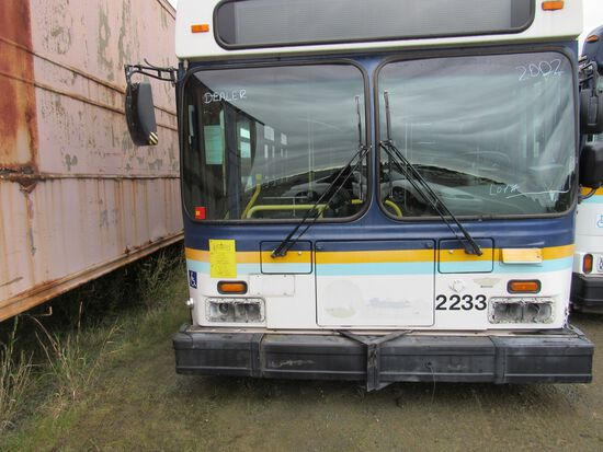 2002 NEW FLYER D40LF TRANSIT BUS (CNG ONLY) (NON RUNNER)