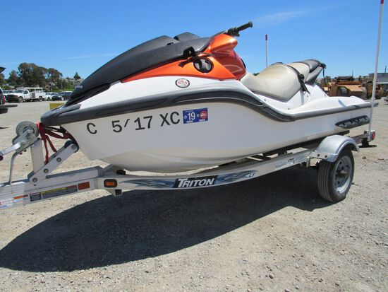 2008 HONDA ARX1500N3 3 PERSON JET SKI W/ TRAILER