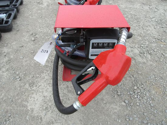 NEW & UNUSED ELECTRIC DIESEL PUMP W/ GALLON COUNTER