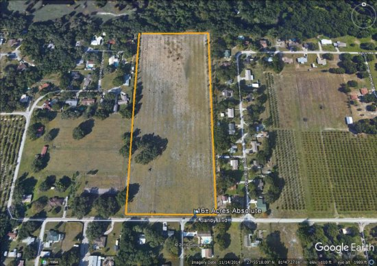 Bartow 16.7± acre development tract entitled for 38 lot residential subdivision.