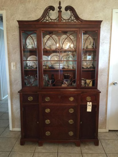 Pediment China Cabinet