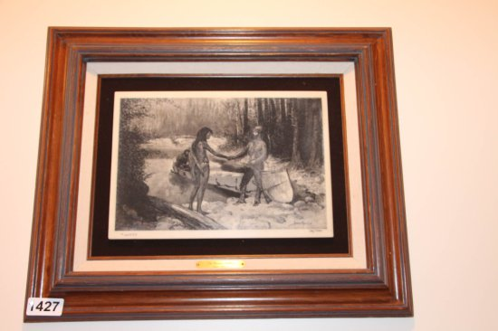 Remington marble etching