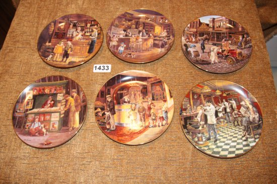 6 Bygone Days collector plates