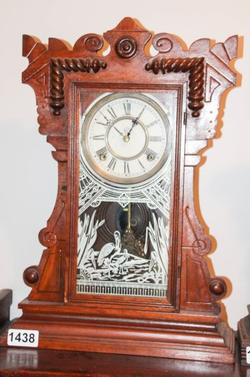 Mantle clock with storks