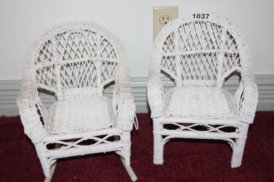 2 doll chairs