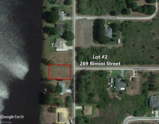 88' X 125'  Buildable Waterfront Lot