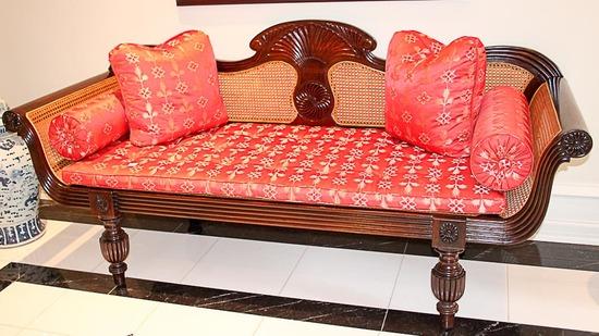 "British Khaki ""Mysore"" Settee"