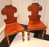 2 Wood Carved Chairs