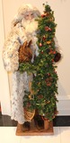 Limited Edition Ditz Design Father Christmas Statue/Figurine in fur coat
