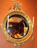 Girandole Federal Convex Eagle Mirror & candle holders