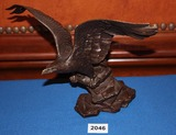 Bronze Eagle Sculpture, Poised for Glory