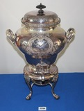 Wilcox International Silver Urn Beverage Dispenser