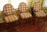 8 Chippendale Bamboo Arm Chairs