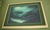 Green Manatees print by Wyland