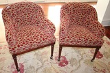 2 Hancock & Moore Tufted Barrel Chairs