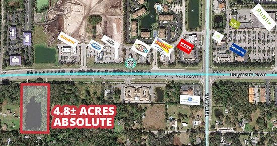 ONLINE ONLY! ABSOLUTE! 4.8± Acres, Sarasota, FL
