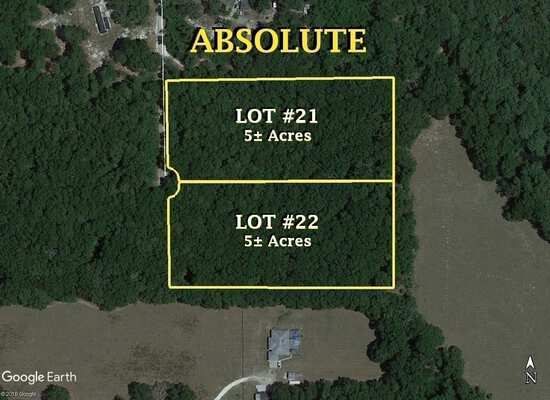 Absolute, Two Residential Lots, Branford, FL