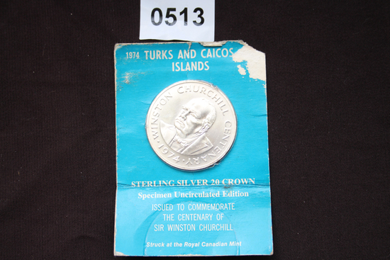 1974 Turks and Caicos Silver Coin