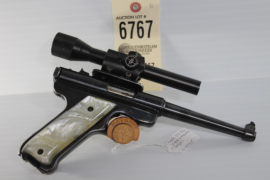 Ruger MKI, .22LR, pistol