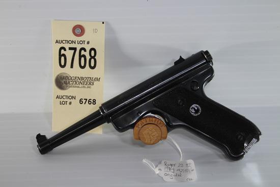 Rugar Standard, .22LR pistol