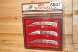 07 Winchester 3 pc. Pocket Knife Collectors Set-Duck, Deer, Trout