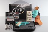Kimber, Micro9 Bel Air chrome and teal, 9mm pistol