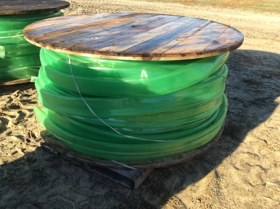 "(212)ROLL OF 4"" POLY HOSE"