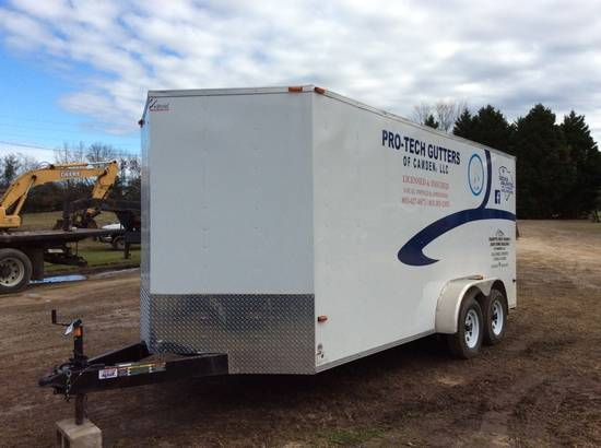 16' T.A. ENCLOSED TRAILER - NT