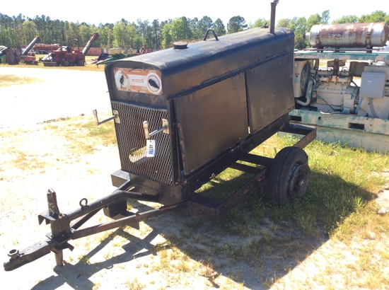 LINCOLN ARC WELDER ON TRAILER