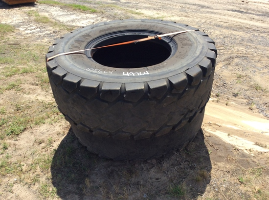(112)ABSOLUTE - (2)17.5R25 TIRES