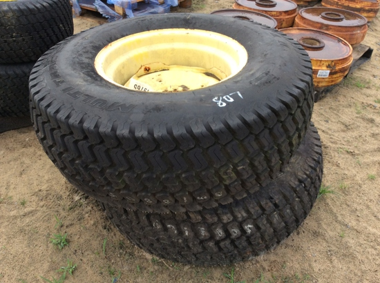 (115)ABSOLUTE - (2)41X14.00-20 NHS TIRES/RIMS
