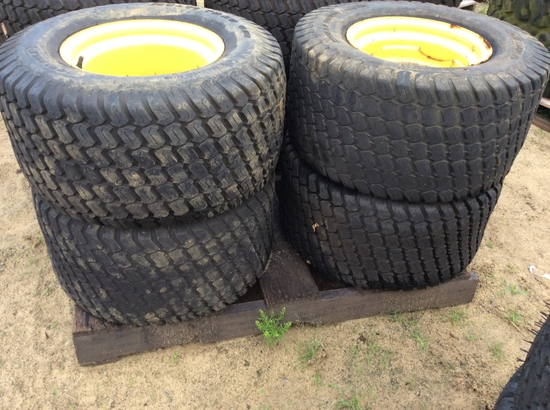 (113)ABSOLUTE - (4)26X12.00-12 NHS TIRES/RIMS