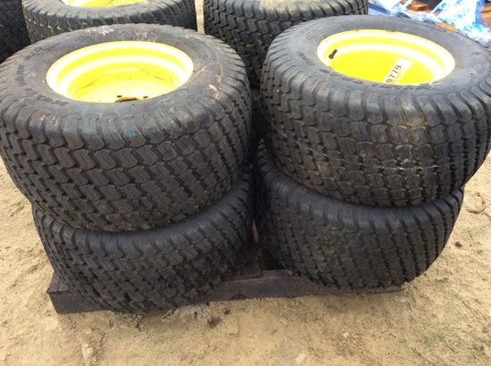(114)ABSOLUTE - (4)26X12.00-12 NHS TIRES/RIMS
