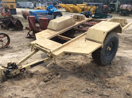 (122)ABSOLUTE - ARMY 1 TON GENERATOR TRAILER