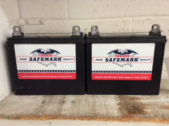 2 - SAFEMARK 12VOLT BATTERIES