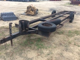 (261)TRAILER FRAME W/ 2 SPARE TIRES - NT