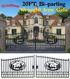 (297)20' WROUGHT IRON ENTRY GATE