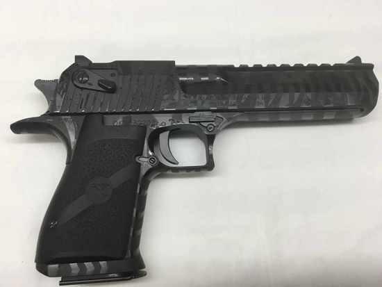 Desert Eagle Black Tiger Striped  50 AE Pistol - NIB