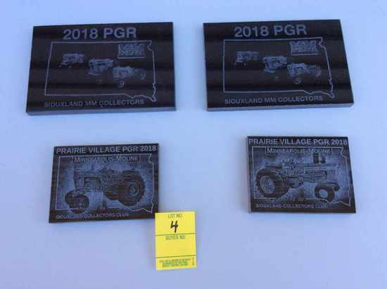 Four 2018 PGR plaques from the Siouxland Collectors