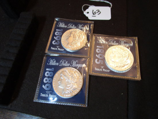 Lot of Tribute Proof Morgan Dollars