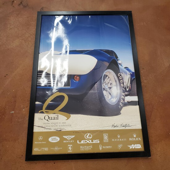 """2008 Collector Edition """"The Quail"""" Lodge Motorsports Revival Offical Poster from Carmel Valley, CA"""