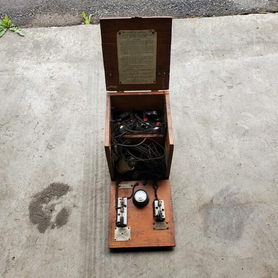 Antique Magneto Wooden Testing BoxNO RESERVE