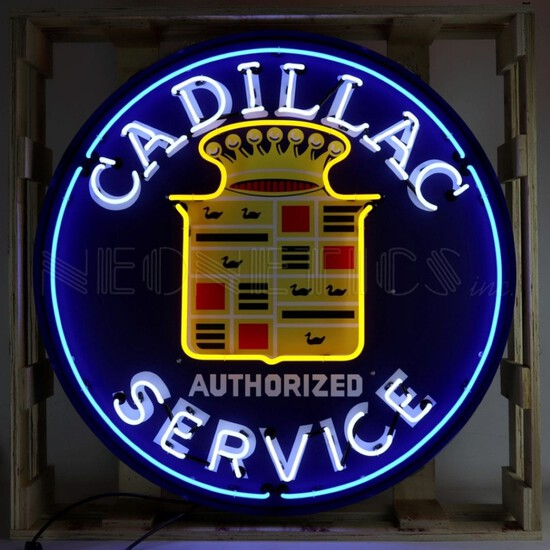 Cadillac Neon Sign In 36 Inch Steel CanNO RESERVE