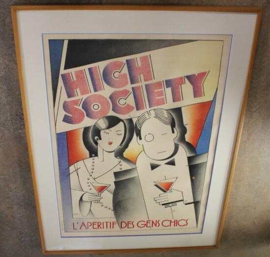 High Society Framed PictureNO RESERVE